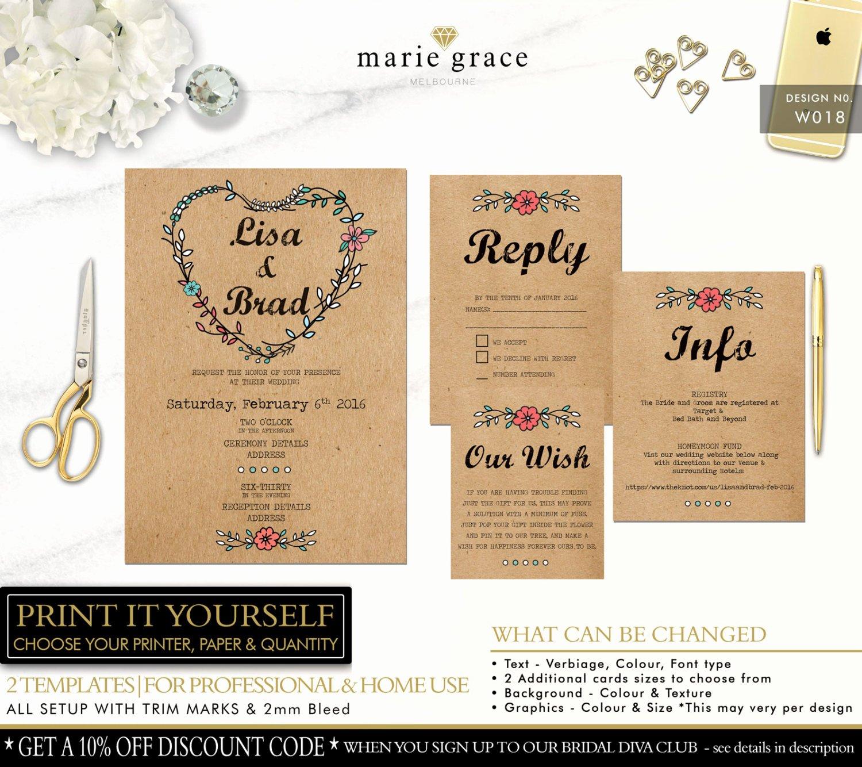 Rustic Wedding Invitation Template Elegant Wedding Invitation Templates Rustic Wedding Invitations