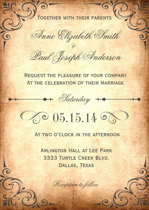Rustic Wedding Invitation Template Fresh 28 Rustic Wedding Invitation Design Templates Psd Ai