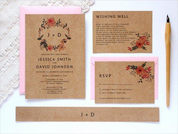 Rustic Wedding Invitation Template Fresh 38 Simple Wedding Invitation Templates Psd Ai Word