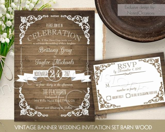 Rustic Wedding Invitation Template Lovely Rustic Wedding Invitation Printable Set Country Wedding