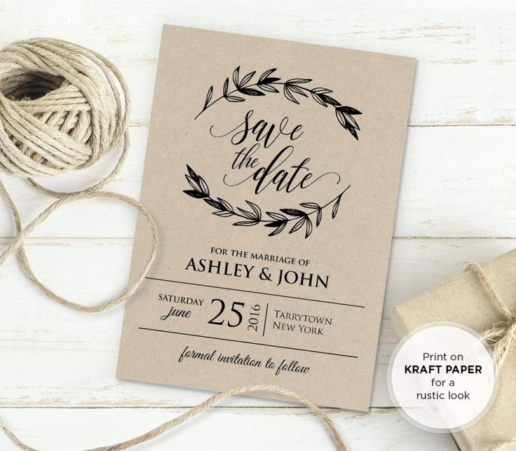 Rustic Wedding Invitation Template New 25 Best Ideas About Invitation Templates On Pinterest