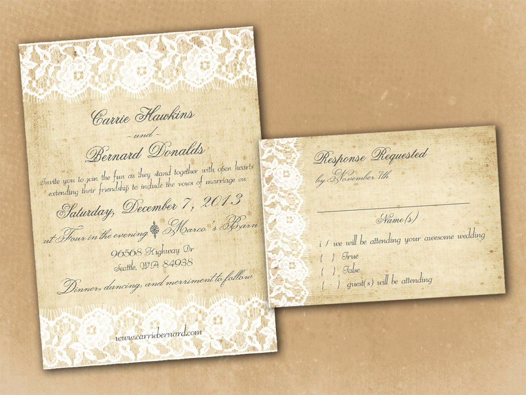 Rustic Wedding Invitation Template New Vintage Bells and Co