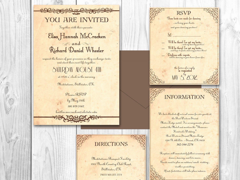 Rustic Wedding Invitation Template Unique Rustic Wedding Invitations Printable by Designedwithamore
