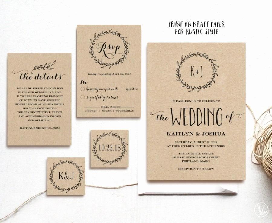 Rustic Wedding Invitation Template Unique Wedding Invitation Templates Rustic Wedding Invitation