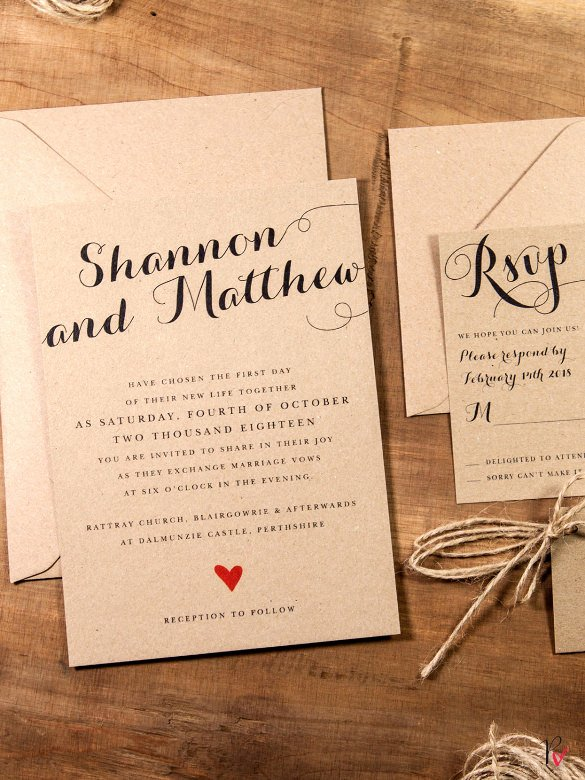 Rustic Wedding Invitations Template Beautiful 28 Rustic Wedding Invitation Design Templates Psd Ai