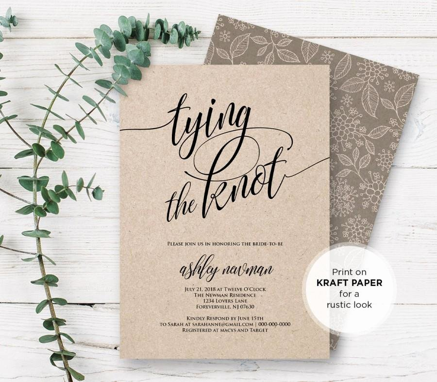 Rustic Wedding Invitations Template Best Of Rustic Bridal Shower Invitation Printable Tying the Knot