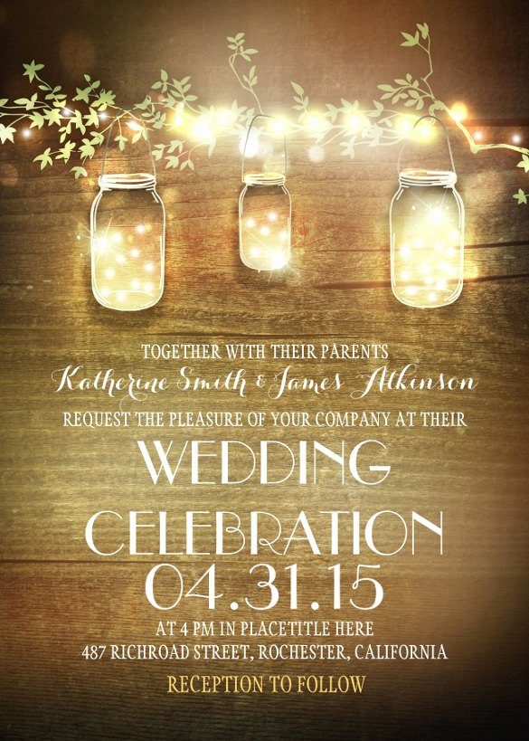 Rustic Wedding Invitations Template Inspirational 28 Rustic Wedding Invitation Design Templates Psd Ai