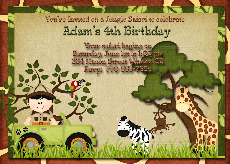 Safari Invitation Template Free Awesome 17 Safari Birthday Invitations Design Templates Free