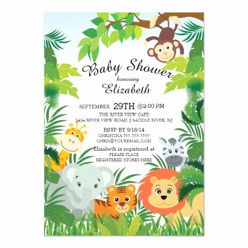 Safari Invitation Template Free Awesome Cute Jungle Safari Baby Shower Invitations