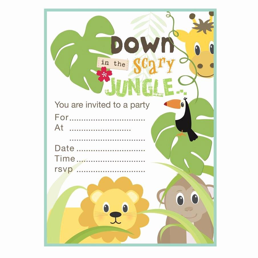 Safari Invitation Template Free Awesome Free Printable Safari Birthday Invitations