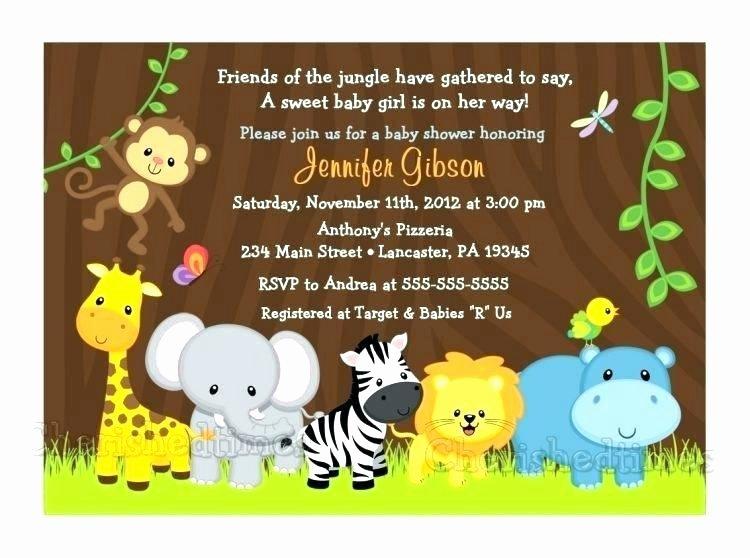 Safari Invitation Template Free Awesome Jungle Safari Invitation Template – Cassifields