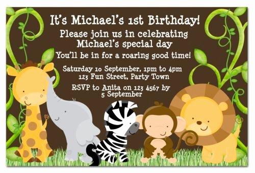 Safari Invitation Template Free Awesome Safari Birthday Invitations Ideas – Bagvania Free