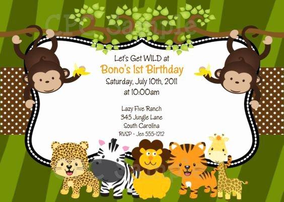 Safari Invitation Template Free Beautiful 17 Safari Birthday Invitations Design Templates Free