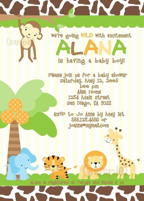 Safari Invitation Template Free Beautiful Baby Mum Mum