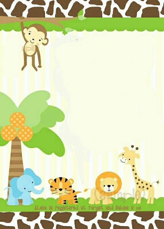Safari Invitation Template Free Fresh 53 Best Carte D Invitation Images On Pinterest