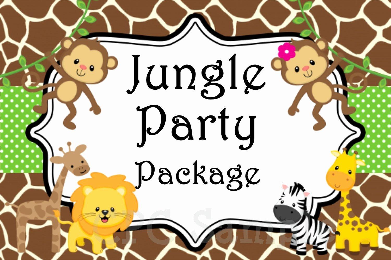 Safari Invitation Template Free Fresh Jungle Safari Birthday Party Invitation by