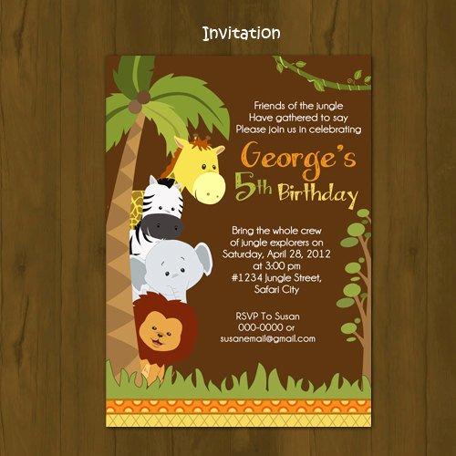 Safari Invitation Template Free Fresh Safari Birthday Invitation · Splashbox Printables · Line