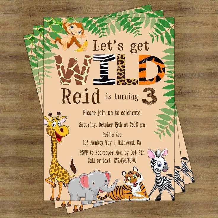 Safari Invitation Template Free Fresh Safari Birthday Invitation Jungle Birthday Invitation