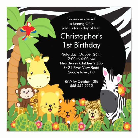 Safari Invitation Template Free Lovely Cute Safari Jungle Birthday Party Invitations