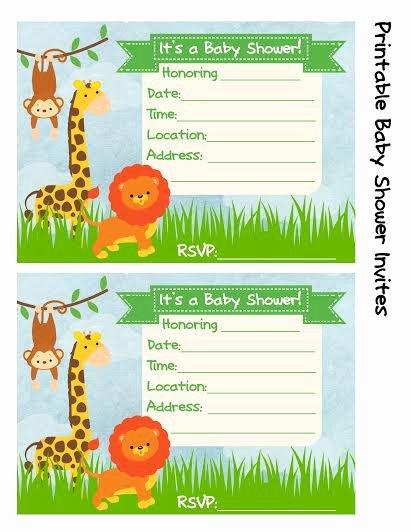 Safari Invitation Template Free New Baby Shower Invitation Jungle theme Frugal Fanatic