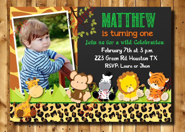 Safari Invitation Template Free Unique Safari Birthday Invitation 1st 2nd 3rd Any Age Birthday