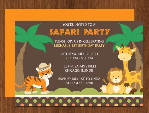 Safari Invitation Template Free Unique Safari Party Invitation Editable Template Microsoft