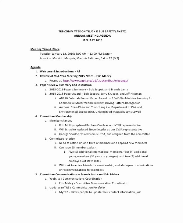 Safety Meeting Minutes Template Lovely Safety Meeting Agenda Template – 8 Free Word Pdf