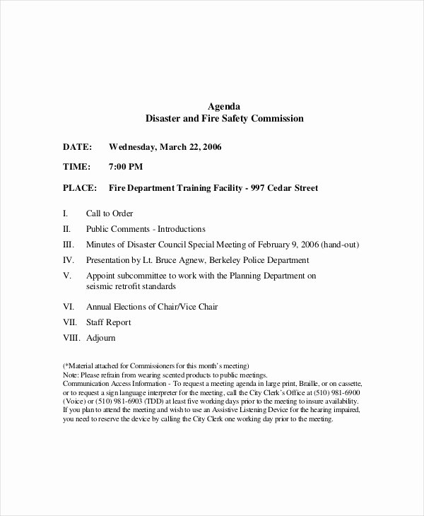 Safety Meeting Minutes Template Luxury 12 Safety Meeting Agenda Templates – Free Sample Example