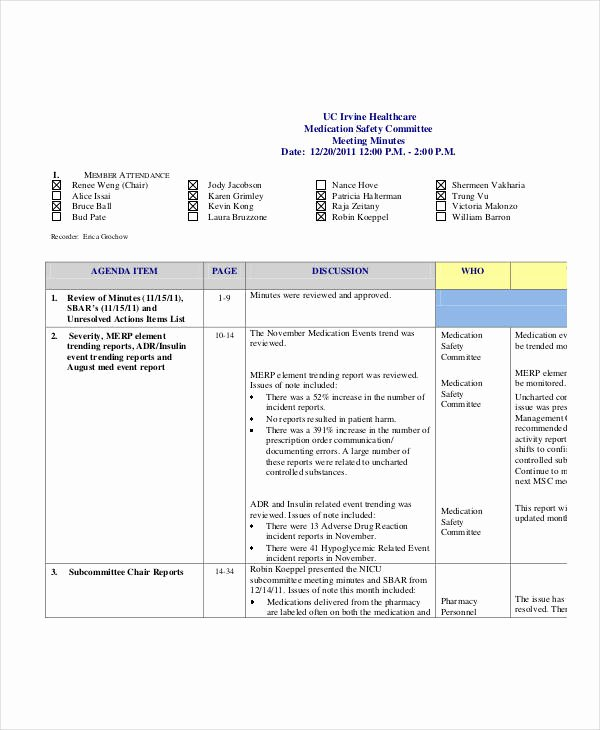 Safety Meeting Minutes Template Luxury Safety Meeting Minutes Template 12 Free Sample Example