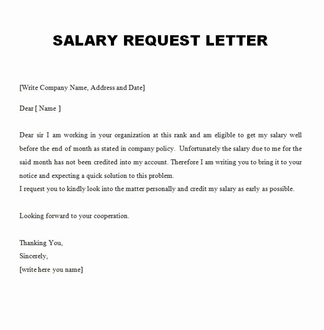 Salary Increase Letter Template Elegant 10 Best Salary Increment Letter format for Employee In Doc