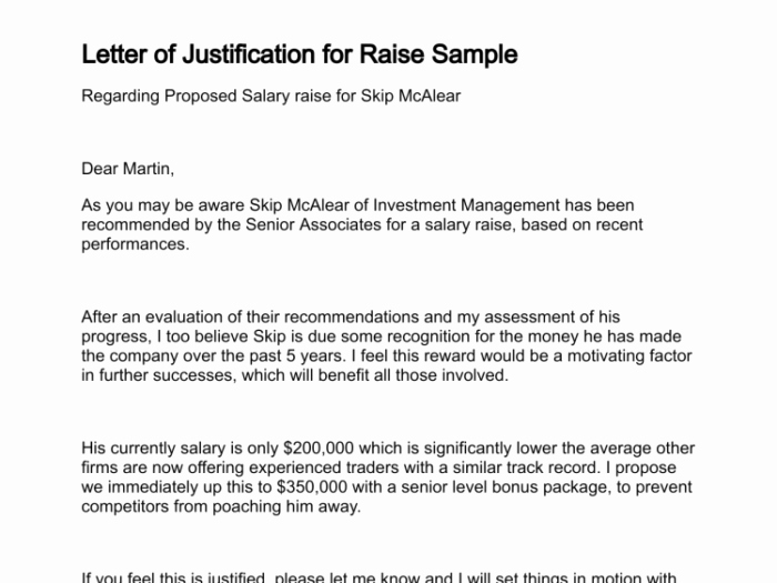 Salary Increase Letter Template Elegant Qualified Letter Justification for Raise Salary