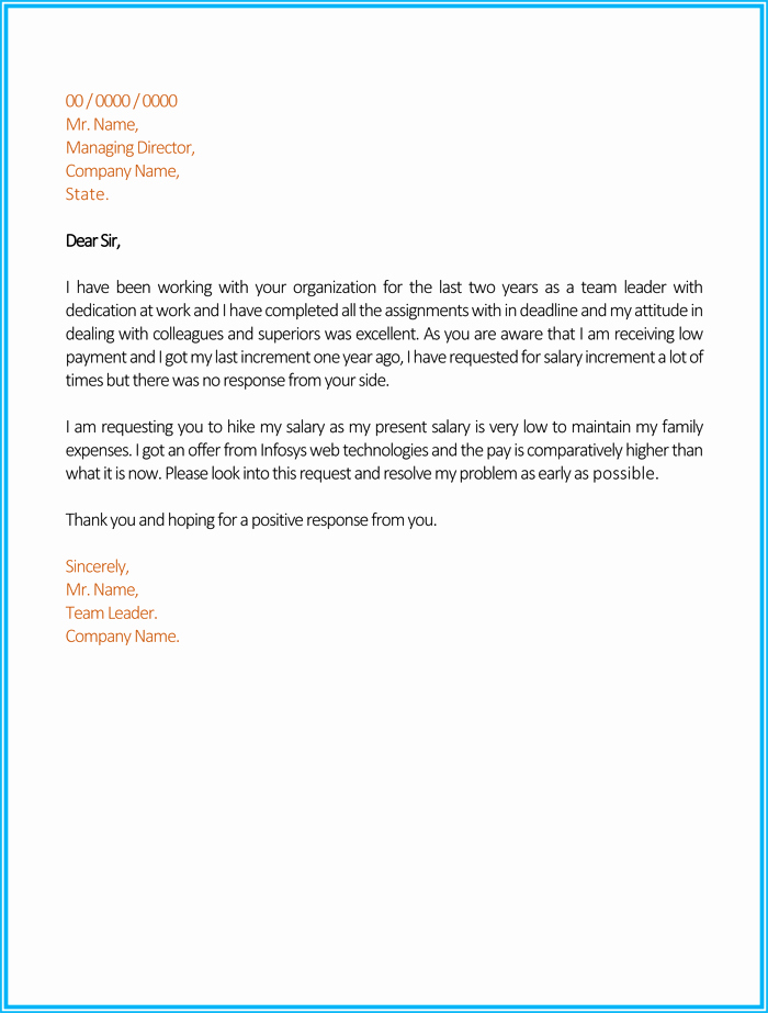 Salary Increase Letter Template New Best Salary Increase Letter Samples with Perfect Wording