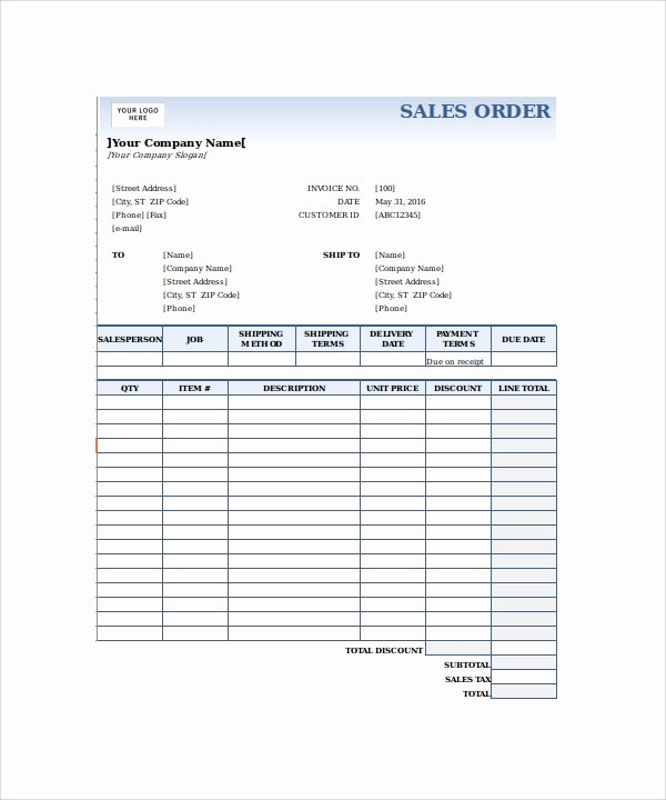 Sale order form Template Unique 23 order form Templates – Pdf Word Excel