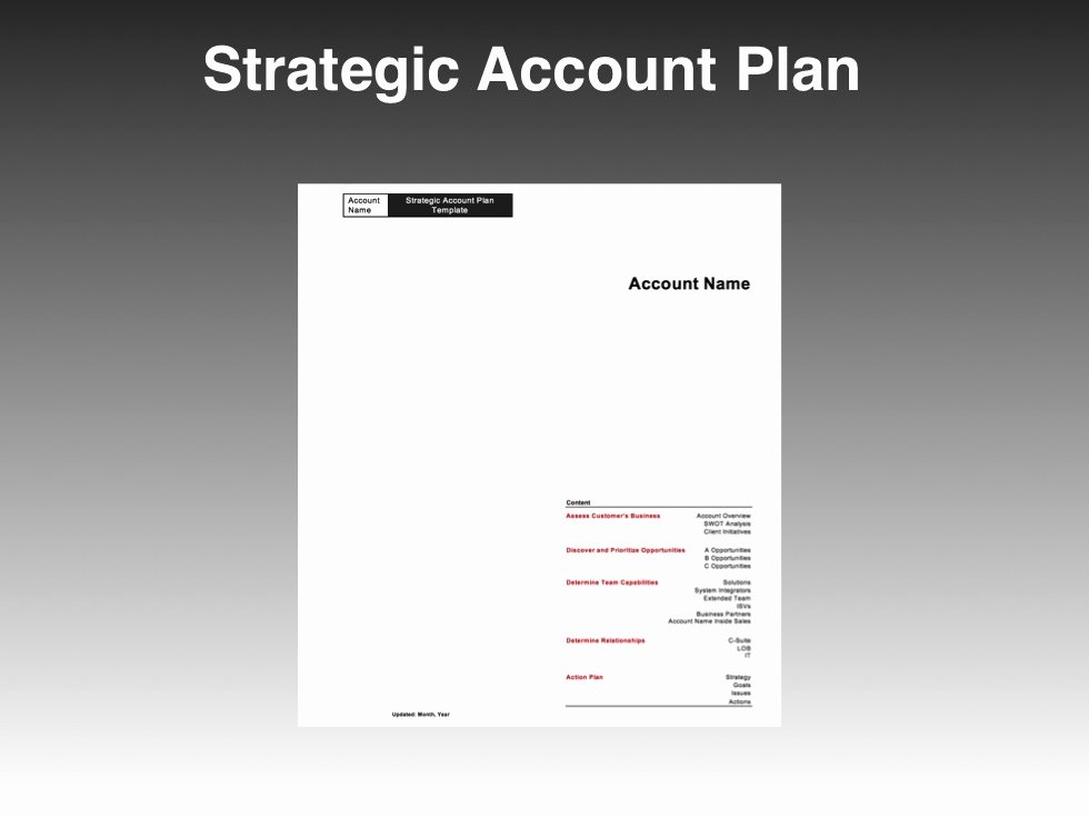 Sales Account Plan Template Beautiful Strategic Account Plan Template Four Quadrant Go to