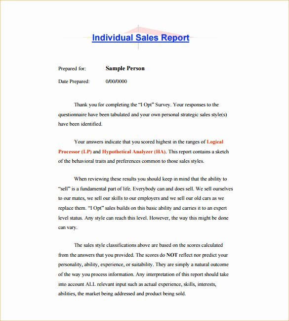 Sales Activity Report Template Inspirational 25 Sales Activity Report Templates Word Excel Pdf
