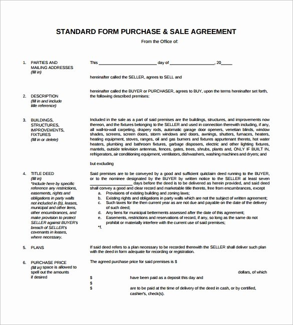 Sales Agreement Template Word Awesome 15 Sample Downloadable Sales Agreement Templates