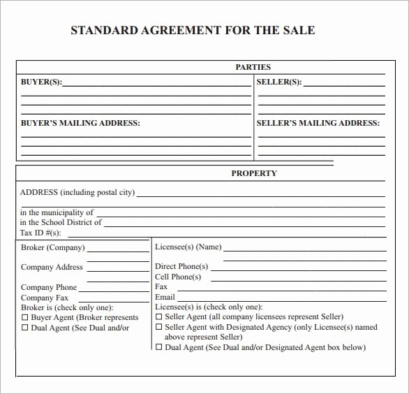 Sales Agreement Template Word Fresh 6 Free Sales Agreement Templates Excel Pdf formats