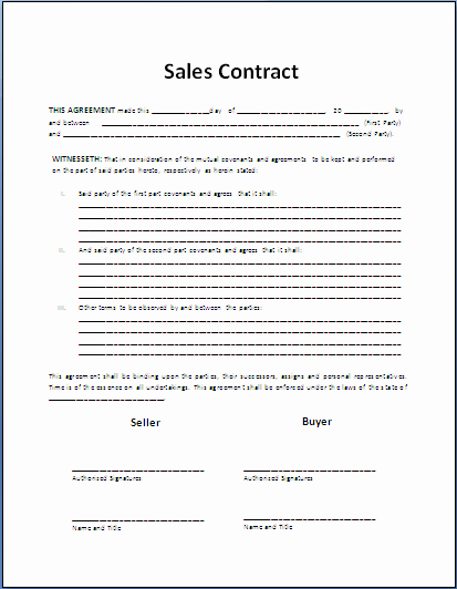 Sales Agreement Template Word Fresh top 5 Resources to Get Free Sales Contract Templates