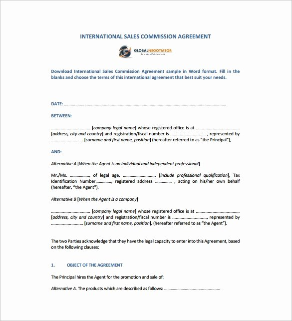 Sales Agreement Template Word Inspirational Sales Agreement 10 Download Free Documents In Word Pdf