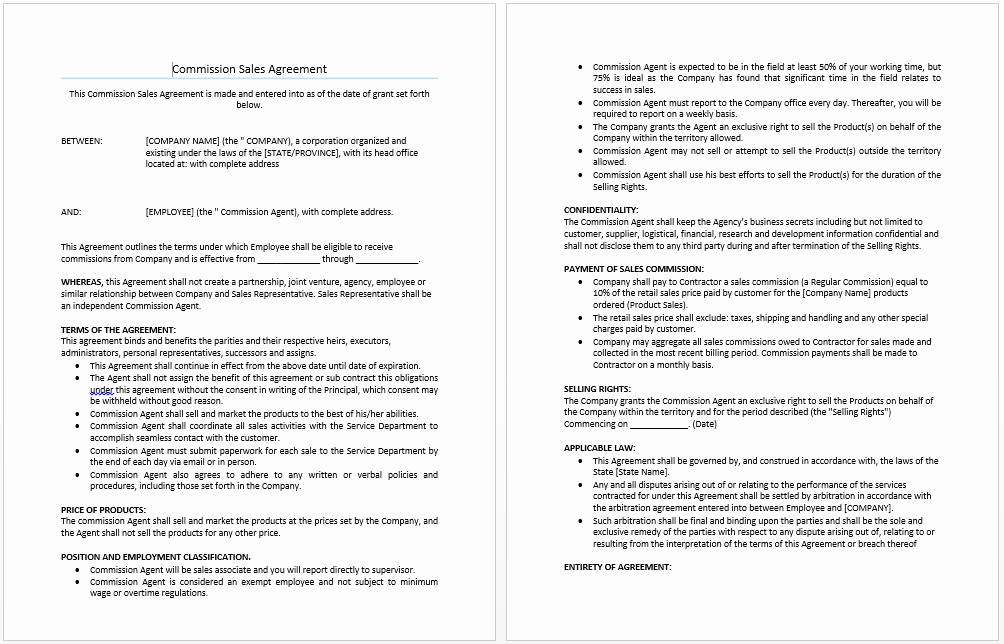 Sales Agreement Template Word Unique Mission Sales Agreement Template Microsoft Word Templates