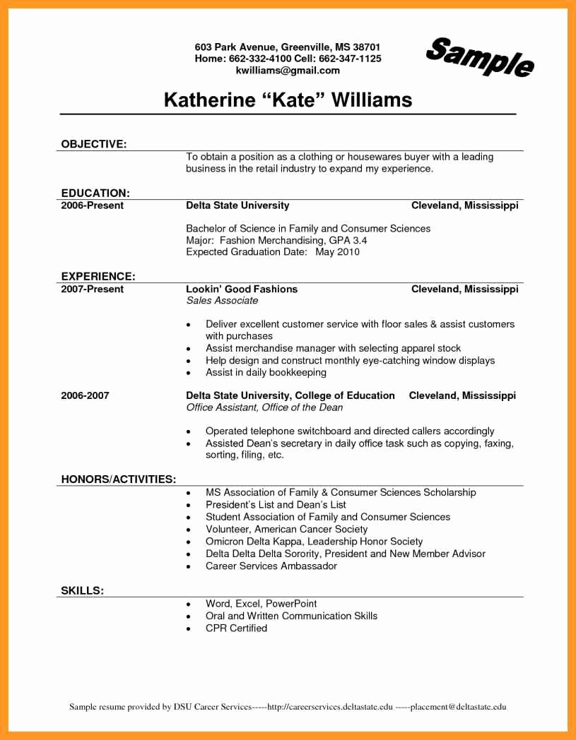 Sales associate Resume Template Elegant Sales associate Resume No Experience