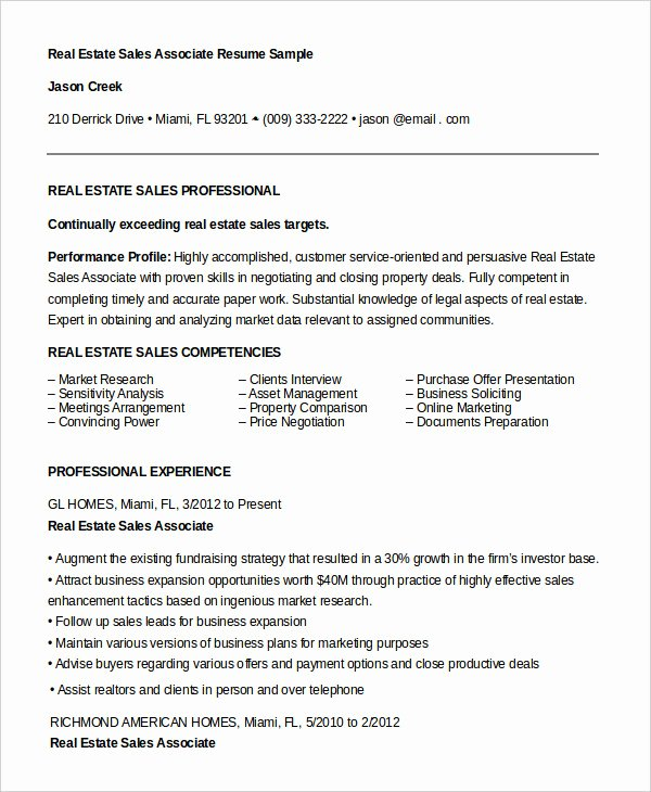 Sales associate Resume Template Fresh 7 Sales associate Resume Templates Pdf Doc