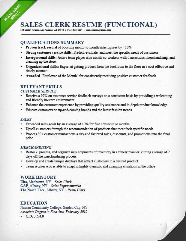 Sales associate Resume Template New Retail Sales associate Resume Sample & Writing Guide