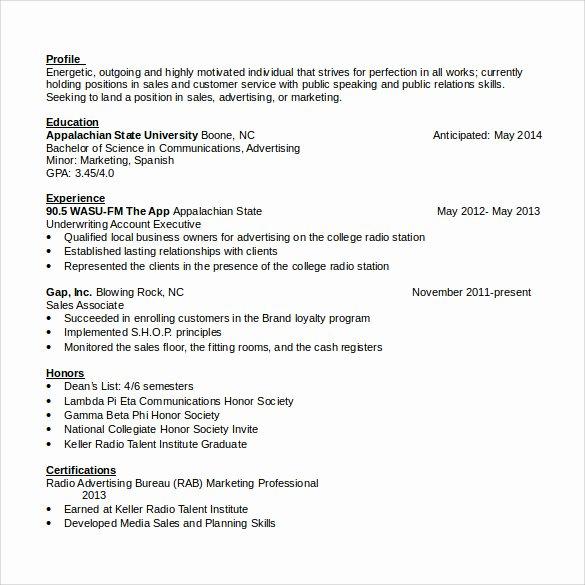 Sales associate Resume Template New Sales associate Resume 7 Free Samples Examples