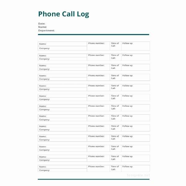 Sales Call Log Template Elegant 13 Call Log Template