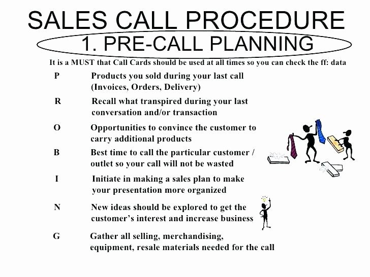 Sales Call Plan Template New Pre Call Planning Template Sales Call Template Report
