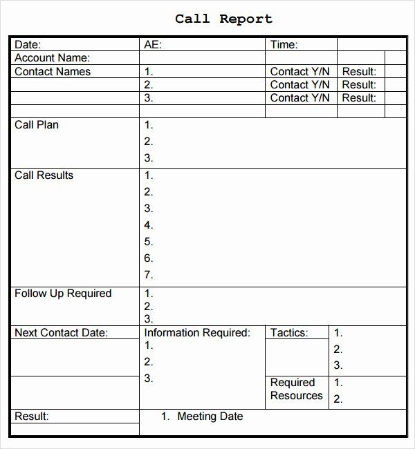 Sales Call Plan Template New Sales Report Template 9 Free Pdf Doc Download