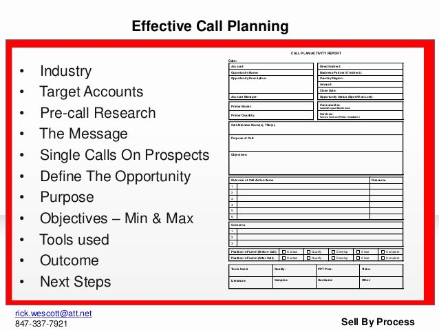 Sales Call Planning Template Lovely Pitch Book Presentation