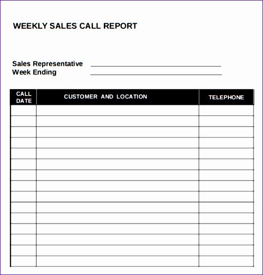 Sales Call Report Template Best Of 10 Call Report Template Excel Exceltemplates
