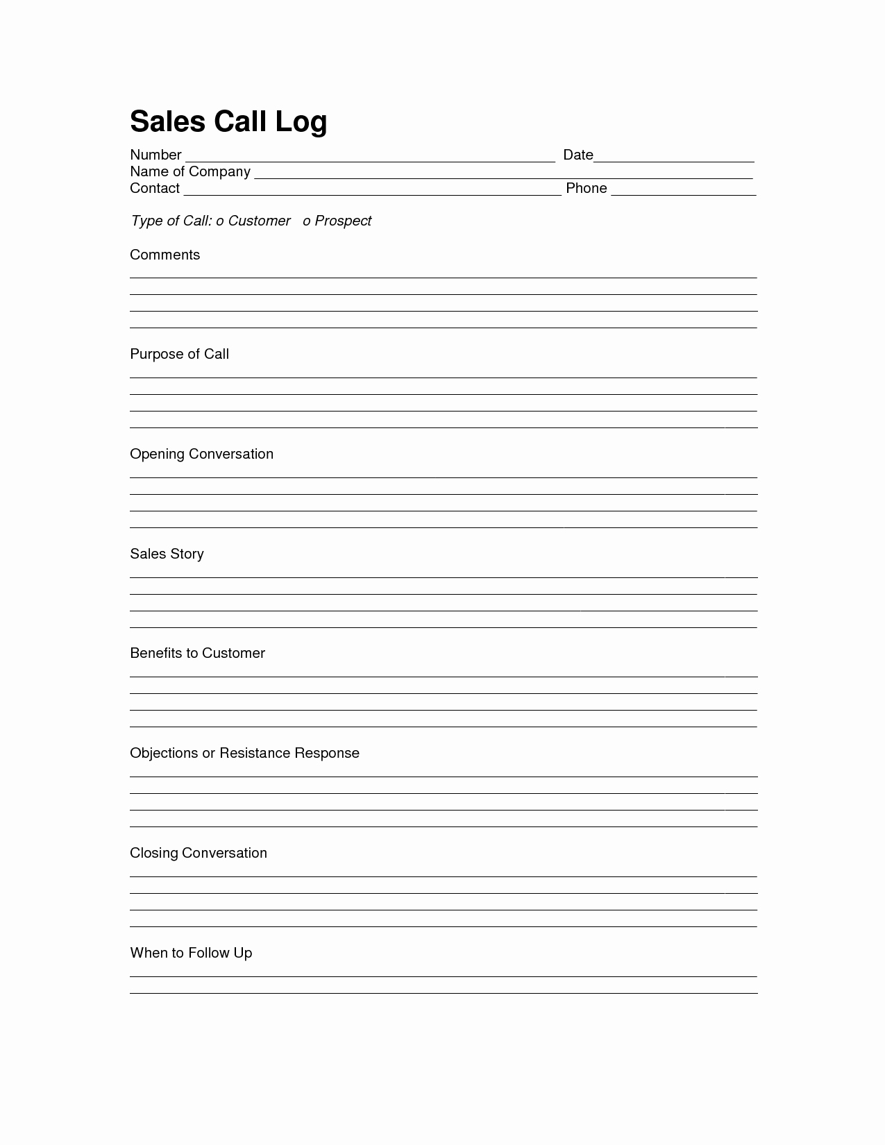 Sales Call Report Template Fresh Sales Log Sheet Template Sales Call Log Template